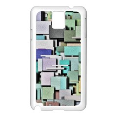 Background Painted Squares Art Samsung Galaxy Note 3 N9005 Case (white)