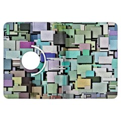 Background Painted Squares Art Kindle Fire Hdx Flip 360 Case