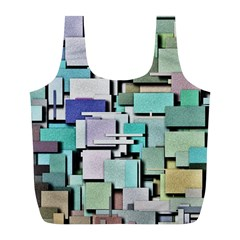 Background Painted Squares Art Full Print Recycle Bags (l)