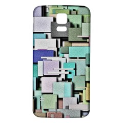 Background Painted Squares Art Samsung Galaxy S5 Back Case (white)