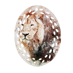 Lion Animal Art Abstract Ornament (oval Filigree)