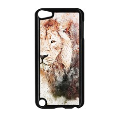 Lion Animal Art Abstract Apple Ipod Touch 5 Case (black)