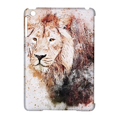 Lion Animal Art Abstract Apple Ipad Mini Hardshell Case (compatible With Smart Cover)