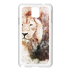 Lion Animal Art Abstract Samsung Galaxy Note 3 N9005 Case (white)
