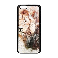 Lion Animal Art Abstract Apple Iphone 6/6s Black Enamel Case