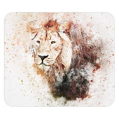 Lion Animal Art Abstract Double Sided Flano Blanket (small)