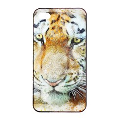 Tiger Animal Art Abstract Apple Iphone 4/4s Seamless Case (black)