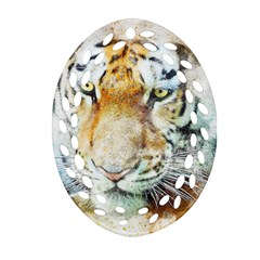 Tiger Animal Art Abstract Ornament (oval Filigree)