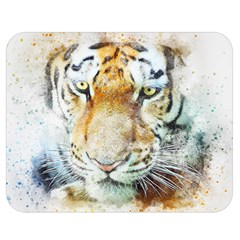 Tiger Animal Art Abstract Double Sided Flano Blanket (medium)