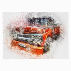 Car Old Car Art Abstract Large Glasses Cloth (2 Side)