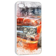 Car Old Car Art Abstract Apple Iphone 4/4s Seamless Case (white)