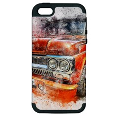 Car Old Car Art Abstract Apple Iphone 5 Hardshell Case (pc+silicone)
