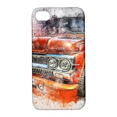 Car Old Car Art Abstract Apple Iphone 4/4s Hardshell Case With Stand