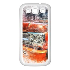 Car Old Car Art Abstract Samsung Galaxy S3 Back Case (white)