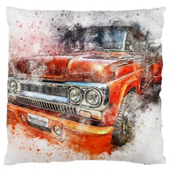 Car Old Car Art Abstract Large Flano Cushion Case (one Side)