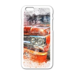 Car Old Car Art Abstract Apple Iphone 6/6s White Enamel Case
