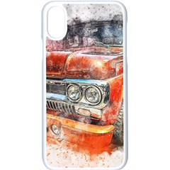 Car Old Car Art Abstract Apple Iphone X Seamless Case (white)