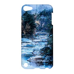 River Water Art Abstract Stones Apple Ipod Touch 5 Hardshell Case