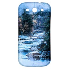 River Water Art Abstract Stones Samsung Galaxy S3 S Iii Classic Hardshell Back Case