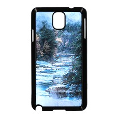 River Water Art Abstract Stones Samsung Galaxy Note 3 Neo Hardshell Case (black)