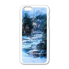 River Water Art Abstract Stones Apple Iphone 6/6s White Enamel Case