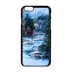 River Water Art Abstract Stones Apple Iphone 6/6s Black Enamel Case