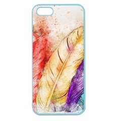 Feathers Bird Animal Art Abstract Apple Seamless Iphone 5 Case (color)