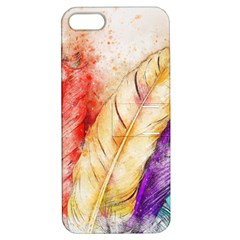 Feathers Bird Animal Art Abstract Apple Iphone 5 Hardshell Case With Stand