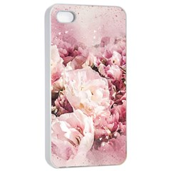 Flowers Bouquet Art Abstract Apple Iphone 4/4s Seamless Case (white)