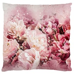 Flowers Bouquet Art Abstract Large Cushion Case (two Sides)