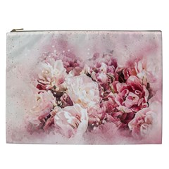 Flowers Bouquet Art Abstract Cosmetic Bag (xxl)
