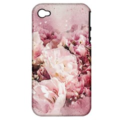 Flowers Bouquet Art Abstract Apple Iphone 4/4s Hardshell Case (pc+silicone)