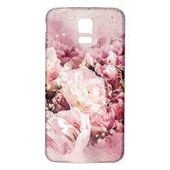 Flowers Bouquet Art Abstract Samsung Galaxy S5 Back Case (white)