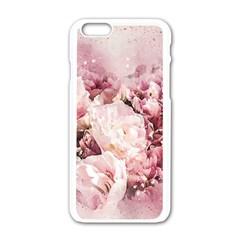 Flowers Bouquet Art Abstract Apple Iphone 6/6s White Enamel Case