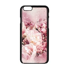 Flowers Bouquet Art Abstract Apple Iphone 6/6s Black Enamel Case
