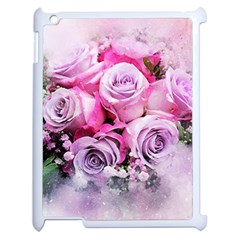 Flowers Roses Bouquet Art Abstract Apple Ipad 2 Case (white)