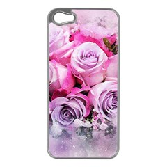 Flowers Roses Bouquet Art Abstract Apple Iphone 5 Case (silver)