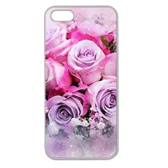 Flowers Roses Bouquet Art Abstract Apple Seamless Iphone 5 Case (clear)