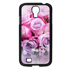 Flowers Roses Bouquet Art Abstract Samsung Galaxy S4 I9500/ I9505 Case (black)