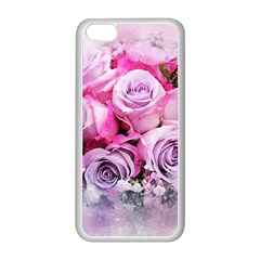 Flowers Roses Bouquet Art Abstract Apple Iphone 5c Seamless Case (white)