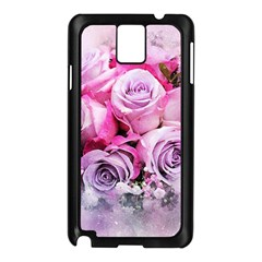 Flowers Roses Bouquet Art Abstract Samsung Galaxy Note 3 N9005 Case (black)