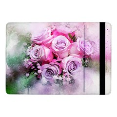 Flowers Roses Bouquet Art Abstract Samsung Galaxy Tab Pro 10 1  Flip Case