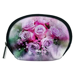 Flowers Roses Bouquet Art Abstract Accessory Pouches (medium)