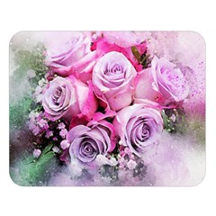 Flowers Roses Bouquet Art Abstract Double Sided Flano Blanket (large)