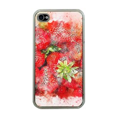 Strawberries Fruit Food Art Apple Iphone 4 Case (clear)