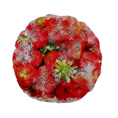 Strawberries Fruit Food Art Standard 15  Premium Round Cushions