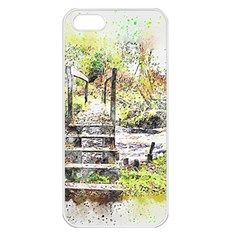 River Bridge Art Abstract Nature Apple Iphone 5 Seamless Case (white)