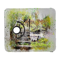 River Bridge Art Abstract Nature Galaxy S3 (flip/folio)
