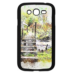River Bridge Art Abstract Nature Samsung Galaxy Grand Duos I9082 Case (black)