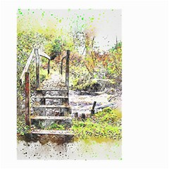 River Bridge Art Abstract Nature Small Garden Flag (two Sides)